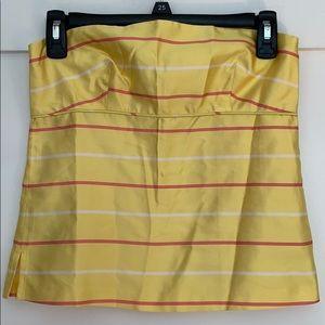 J Crew Size 0 Silk Strapless Blouse